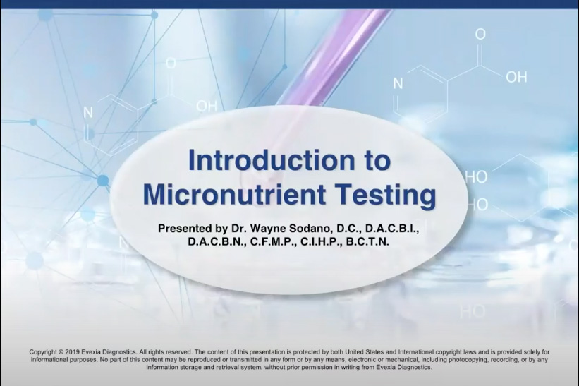 Introduction To Micronutrient Testing